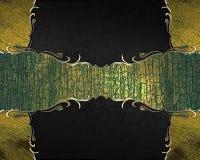 Αφηρημένο μαύρο υπόβαθρο με το σημάδι grunge για το κείμενο Πρότυπο για το σχέδιο διάστημα αντιγράφων για το φυλλάδιο αγγελιών ή  Στοκ εικόνα με δικαίωμα ελεύθερης χρήσης