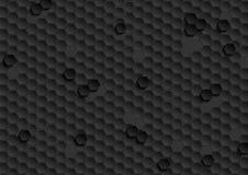Αφηρημένο μαύρο hexagons γεωμετρικό υπόβαθρο τεχνολογίας απεικόνιση αποθεμάτων