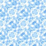 Αφηρημένο μαλακό μπλε γεωμετρικό άνευ ραφής σχέδιο ορθογωνίων Στοκ Εικόνες