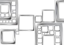 Αφηρημένο μεταλλικό σχέδιο τεχνολογίας τετραγώνων διανυσματικό Στοκ Φωτογραφία