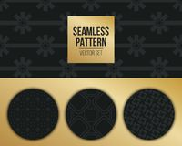 Αφηρημένο μονοχρωματικό γεωμετρικό σχέδιο έννοιας Σκούρο μπλε, χρυσό ελάχιστο υπόβαθρο Δημιουργικό πρότυπο απεικόνισης seamless Στοκ εικόνες με δικαίωμα ελεύθερης χρήσης
