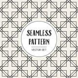 Αφηρημένο μονοχρωματικό γεωμετρικό σχέδιο έννοιας Γραπτό ελάχιστο υπόβαθρο Δημιουργικό πρότυπο απεικόνισης seamless Στοκ Φωτογραφίες