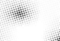 Αφηρημένο μονοχρωματικό ημίτονο σχέδιο Φουτουριστική επιτροπή Διαστιγμένο Grunge σκηνικό με τους κύκλους, σημεία, σημείο Στοκ Φωτογραφία