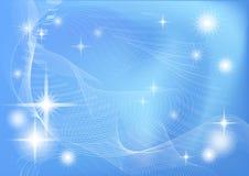Αφηρημένο μπλε - άσπρη ανασκόπηση ελεύθερη απεικόνιση δικαιώματος
