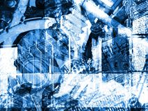 αφηρημένο μπλε ανασκόπησης Στοκ εικόνα με δικαίωμα ελεύθερης χρήσης