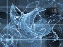 αφηρημένο μπλε ανασκόπηση&sig Στοκ Εικόνα