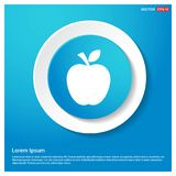 Αφηρημένο μπλε κουμπί αυτοκόλλητων ετικεττών Ιστού εικονιδίων φρούτων της Apple απεικόνιση αποθεμάτων