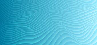 Αφηρημένο μπλε κυρτό διανυσματικό υπόβαθρο διάθλασης κυμάτων απεικόνιση αποθεμάτων