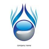 αφηρημένο μπλε λογότυπο Στοκ Φωτογραφίες
