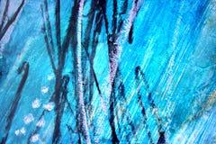 Αφηρημένο μπλε με το μαύρο καλλιτεχνικό χρωματισμένο υπόβαθρο απεικόνιση αποθεμάτων