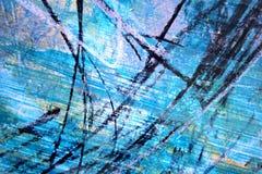 Αφηρημένο μπλε με το μαύρο καλλιτεχνικό χρωματισμένο υπόβαθρο ελεύθερη απεικόνιση δικαιώματος