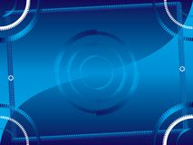 αφηρημένο μπλε πλαίσιο 2 Διανυσματική απεικόνιση