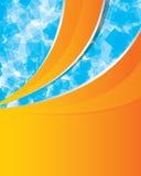 αφηρημένο μπλε πορτοκάλι &al Διανυσματική απεικόνιση