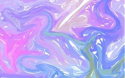αφηρημένο μπλε ροζ ανασκόπ Marbling μελανιού συστάσεις Συρμένες χέρι μαρμάρινες απεικονίσεις, έγγραφο aqua ebru και τυπωμένες ύλε ελεύθερη απεικόνιση δικαιώματος