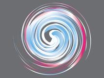 Αφηρημένο μπλε ρόδινο άσπρο λογότυπο στροβίλου Ελεύθερη απεικόνιση δικαιώματος