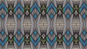 Αφηρημένο μπλε υπόβαθρο με τα ασημένια σχέδια για το σχέδιο Στοκ Εικόνες