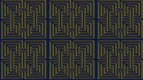 Αφηρημένο μπλε υπόβαθρο με τα χρυσά σχέδια, εικόνα ράστερ για το θόριο Στοκ εικόνα με δικαίωμα ελεύθερης χρήσης