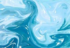 αφηρημένο μπλε φως ανασκόπησης Marbling μελανιού συστάσεις Συρμένες χέρι μαρμάρινες απεικονίσεις, έγγραφο aqua ebru και τυπωμένες απεικόνιση αποθεμάτων