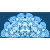 Αφηρημένο μπλε χέρι υποβάθρου μορφών που χρωματίζεται διανυσματική απεικόνιση
