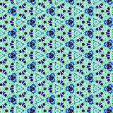 Αφηρημένο μπλε cornflower επίδρασης υποβάθρου σχεδίων αστεριών και λουλουδιών Στοκ Εικόνα