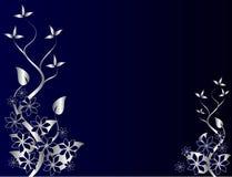 αφηρημένο μπλε floral ασήμι ανασ διανυσματική απεικόνιση