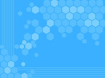 αφηρημένο μπλε hexagon ανασκόπησ& Στοκ Φωτογραφίες