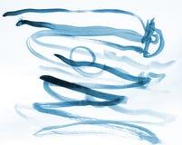 Αφηρημένο μπλε watercolor στη σύσταση εγγράφου ως σχέδιο υποβάθρου διανυσματική απεικόνιση