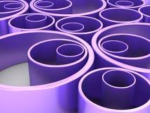 Αφηρημένο μπλε γεωμετρικό σχέδιο κύκλων Στοκ φωτογραφία με δικαίωμα ελεύθερης χρήσης