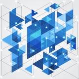 Αφηρημένο μπλε γεωμετρικό υπόβαθρο τεχνολογίας, διανυσματική απεικόνιση Στοκ Εικόνα
