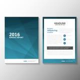Αφηρημένο μπλε διανυσματικό σχέδιο προτύπων ιπτάμενων φυλλάδιων φυλλάδιων ετήσια εκθέσεων, σχέδιο σχεδιαγράμματος κάλυψης βιβλίων Στοκ Εικόνα