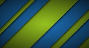 Αφηρημένο μπλε και πράσινο υπόβαθρο, διαγώνιες γραμμές και λουρίδες Στοκ Φωτογραφίες