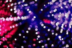Αφηρημένο μπλε, κόκκινο και ιώδες κυκλικό υπόβαθρο bokeh Στοκ Εικόνες
