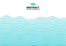 Αφηρημένο μπλε κύμα γραμμών, κυματιστό σχέδιο λωρίδων, τραχιά επιφάνεια, Β Στοκ Εικόνα