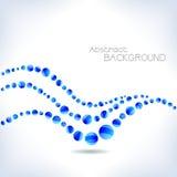 αφηρημένο μπλε κύμα Στοκ εικόνες με δικαίωμα ελεύθερης χρήσης
