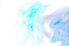 Αφηρημένο μπλε, ρόδινο και άσπρο χρώμα Watercolor Στοκ Φωτογραφίες