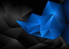 Αφηρημένο μπλε σχεδίου πολυγώνων υποβάθρου διανυσμάτων Στοκ Φωτογραφία