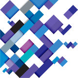 Αφηρημένο μπλε σύγχρονο γεωμετρικό πρότυπο, απεικόνιση Στοκ φωτογραφία με δικαίωμα ελεύθερης χρήσης