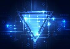 Αφηρημένο μπλε υπόβαθρο έννοιας τεχνολογίας επίσης corel σύρετε το διάνυσμα απεικόνισης Στοκ φωτογραφία με δικαίωμα ελεύθερης χρήσης