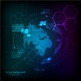 Αφηρημένο μπλε υπόβαθρο επιστήμης επίσης corel σύρετε το διάνυσμα απεικόνισης Στοκ εικόνα με δικαίωμα ελεύθερης χρήσης