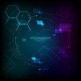 Αφηρημένο μπλε υπόβαθρο επιστήμης διάνυσμα Στοκ εικόνες με δικαίωμα ελεύθερης χρήσης