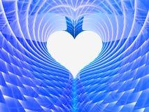Αφηρημένο μπλε υπόβαθρο καρδιών Στοκ Φωτογραφία