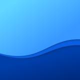 Αφηρημένο μπλε υπόβαθρο κυμάτων με τα λωρίδες Στοκ Φωτογραφία