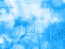 Αφηρημένο μπλε υπόβαθρο με τις επιστολές Στοκ εικόνες με δικαίωμα ελεύθερης χρήσης