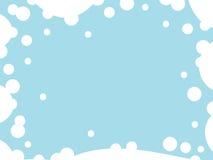 Αφηρημένο μπλε υπόβαθρο με τον κενό κύκλο Στοκ Εικόνες