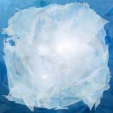 Αφηρημένο μπλε υπόβαθρο με τον παγετό Στοκ Φωτογραφία