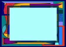 Αφηρημένο μπλε υπόβαθρο με το κενό ορθογώνιο διάστημα Στοκ Φωτογραφία