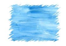 Αφηρημένο μπλε υπόβαθρο watercolor για το πλαίσιο, τις συστάσεις και τα υπόβαθρα Στοκ φωτογραφίες με δικαίωμα ελεύθερης χρήσης
