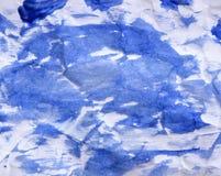 Αφηρημένο μπλε υπόβαθρο watercolor στο λευκό Στοκ Εικόνες