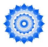Αφηρημένο μπλε mandala του διανύσματος chakra Vishuddha ελεύθερη απεικόνιση δικαιώματος