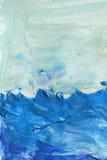 αφηρημένο μπλε watercolor ανασκόπησης Στοκ φωτογραφία με δικαίωμα ελεύθερης χρήσης